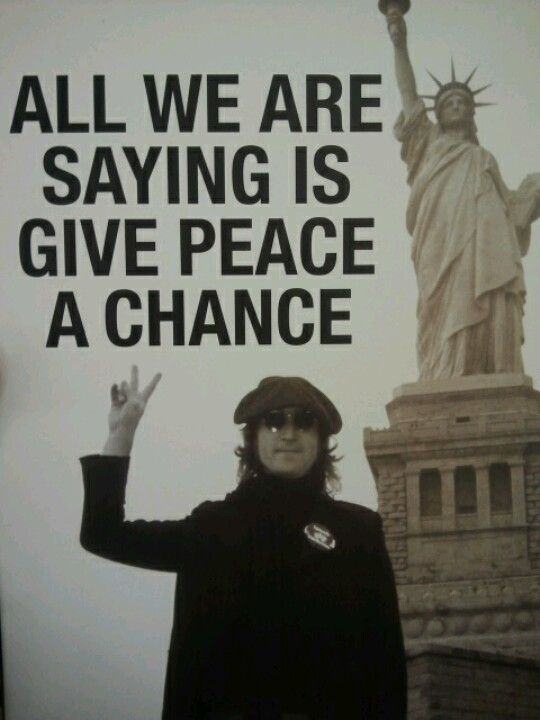 Give peace a chance :)