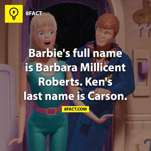 Barbie & Ken's full names, now my life is complete