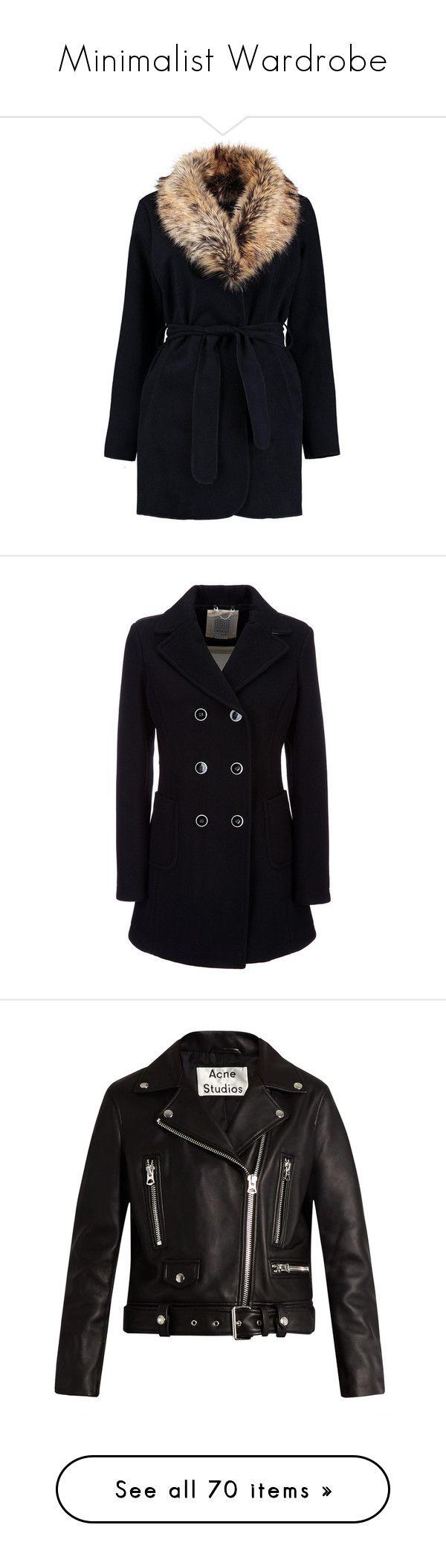 """""""Minimalist Wardrobe"""" by lysianna ❤ liked on Polyvore featuring outerwear, coats, rain coat, bomber coat, longline coat, longline duster coat, leather-sleeve coats, jackets, coats & jackets and black and vanilla cream"""