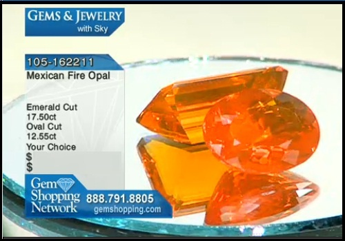 2 large Mexican fire opals for sale at Gem Shopping Network.