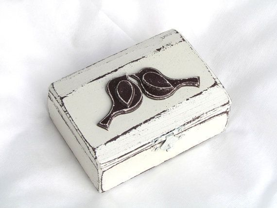 Wedding Ring Box Rustic Ring Bearer Box Birds by GregolinoWedding, €27.00