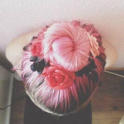 Sweet  pink bun.