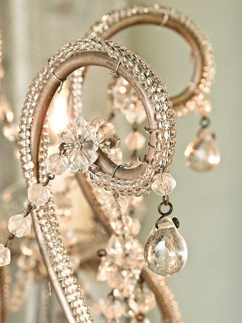 chandelier close-up: Teardrop Chandelier, Shabby Chic, Chandeliers, Beautiful, Chandelier Details, Tear Drops, Photo, Light