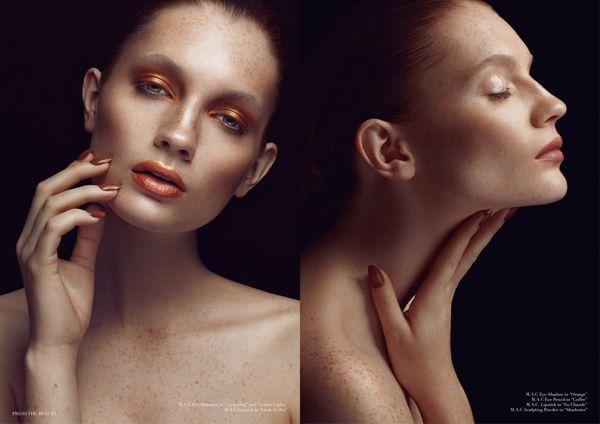 """Bronze Goddess"" for Press the Beauty Magazine SS14 by Ruo Bing Li, via Behance"