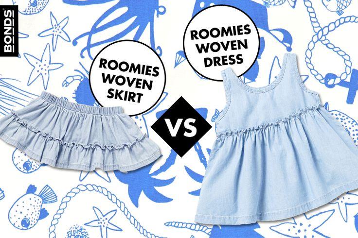 Roomies Woven Skirt vs. Roomies Woven Dress
