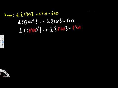Laplace Transform of second derivative, laplace transform of f''t - Diff...