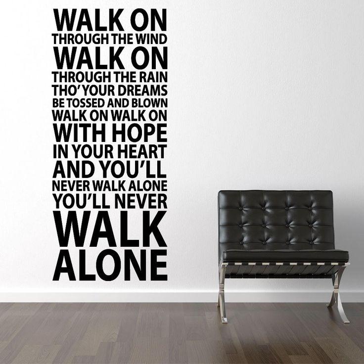 You'll never walk alone - Liverpool väggdekor