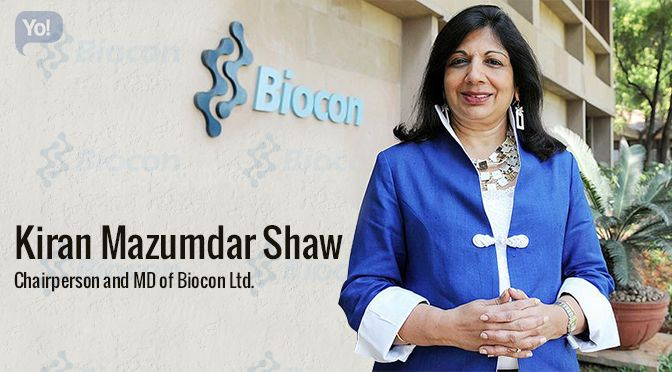 Born on 23rd March 1953; Kiran Mazumdar-Shaw is the Chairman and Managing Director of Biocon Limited – India's largest listed biotechnology company based in Bangalore and is also the present chairperson of IIM-Bangalore. Read more at @Yo_Success