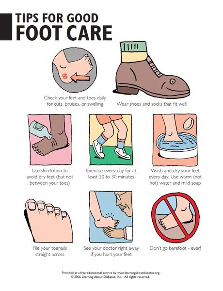 dibetic foot care