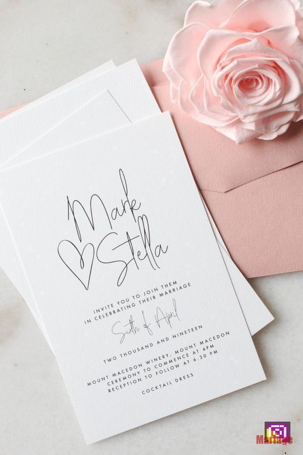 Invitation De Mariage Tout Mon Coeur Coeur Invitation Mariage Mon Tout Invitation Mariage Idees De Mariage Faire Part Mariage