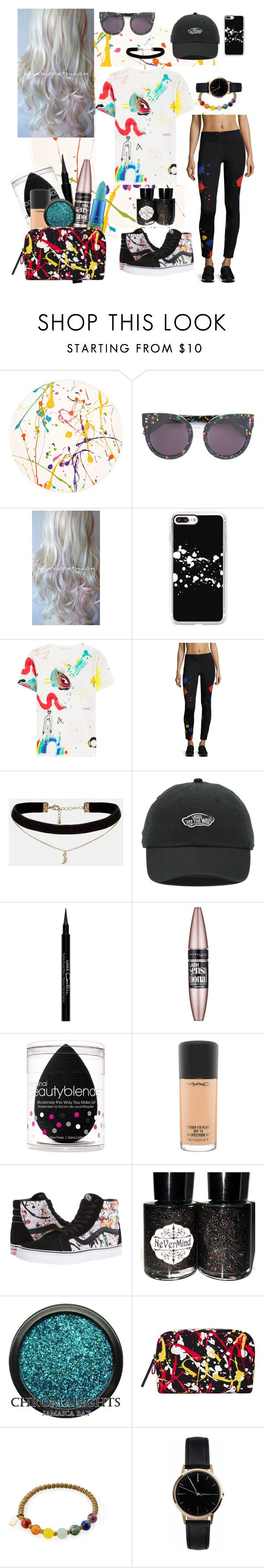 """""""Paint me Perfect"""" by katherinesundin ❤ liked on Polyvore featuring Lisa Perry, STELLA McCARTNEY, Casetify, Marc Jacobs, Alice + Olivia, ASOS, Vans, Givenchy, Maybelline and beautyblender"""