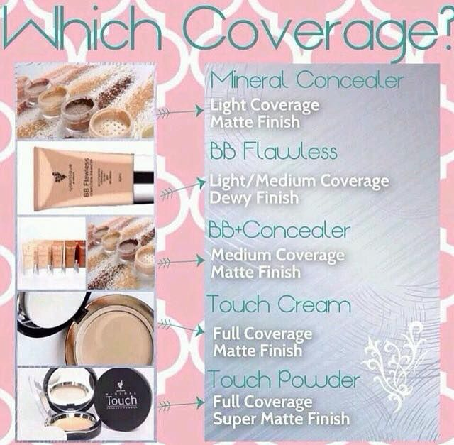 We have TONS of coverage options for you. Whether you just want a little coverage to even your skin tone or A LOT of coverage to cover up every single imperfection. Younique has you covered (;
