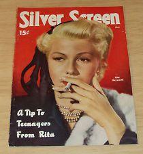 "VTG 1951 Magazine~""SILVER SCREEN""~Disney's Alice in Wonderland~Rita Hayworth~"