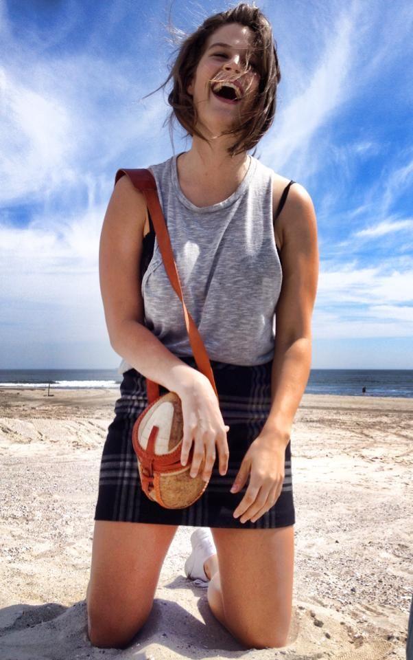Wilhelmina, model, Aglae Dreyer and her calabash bag