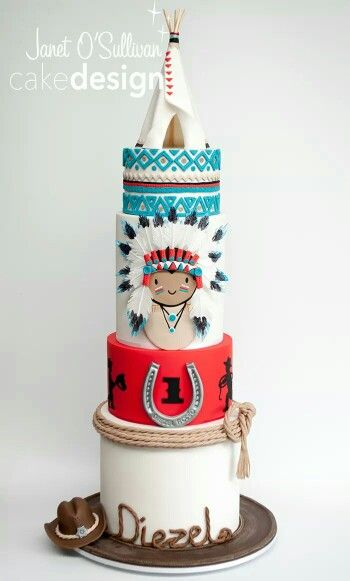 Cowboys and Indians cake
