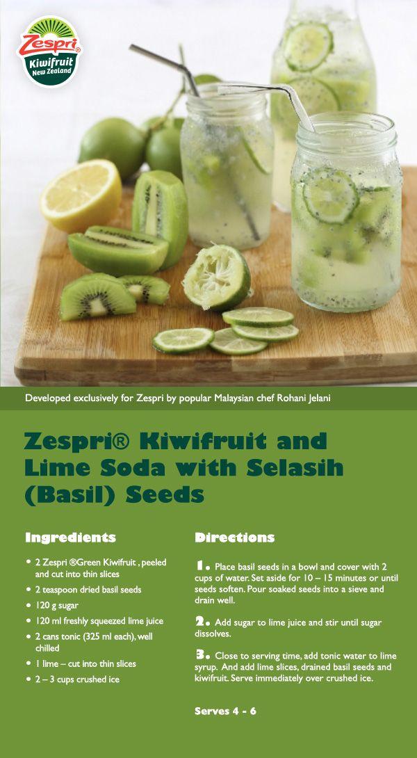 Zespri Kiwifruit and Lime Soda
