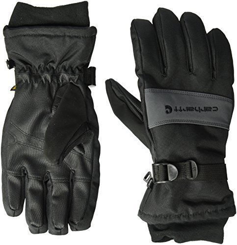 Men Waterproof Insulated Work Glove Fast Dry Durable Polytex Shell Gray Large Carhartt Insulated Gloves Mens Winter Gloves Carhartt Mens