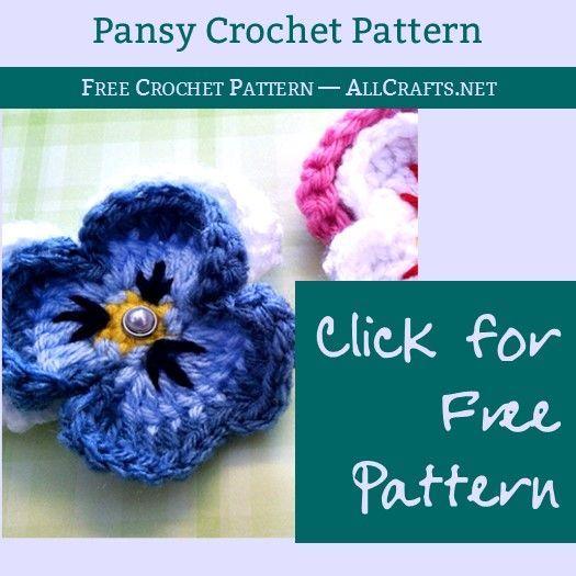 Pansy Flower Crochet Pattern