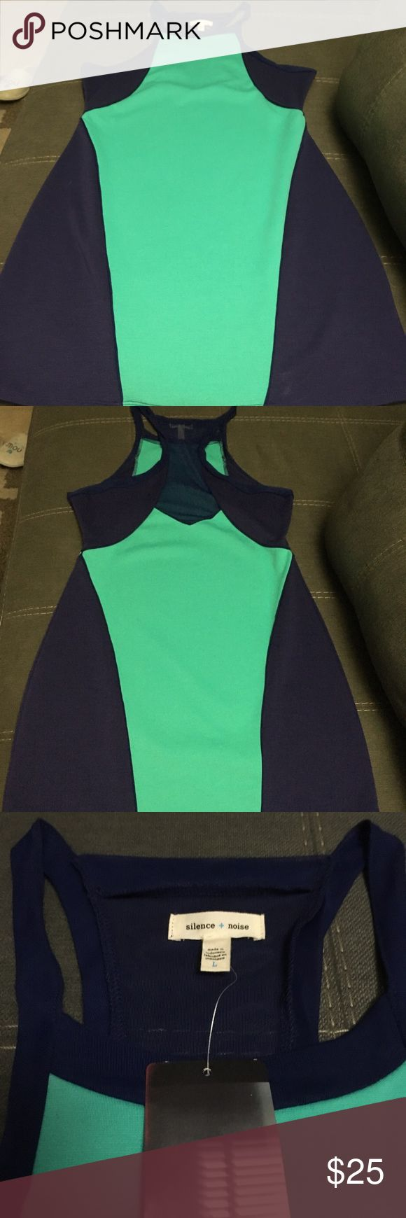 Turquoise and Violet Body Mini Dress Amazing Girls Night Body Hugging Dress from Silence + Noise Size L. (Urban Outfitters Brand) Never worn and brand new with tag. silence + noise Dresses Mini