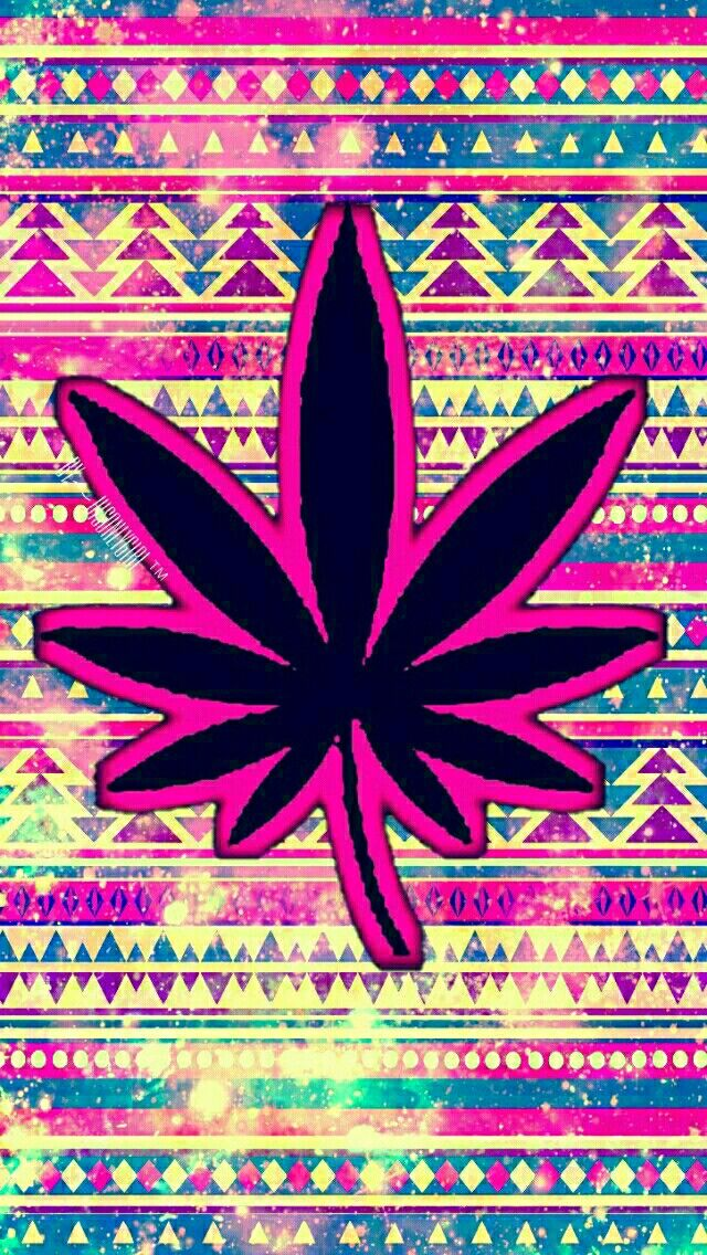 Weed tribal galaxy wallpaper I made for the app CocoPPa.