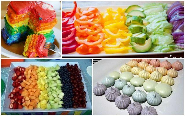 Rainbow Party Food I love the idea of healthy food too!