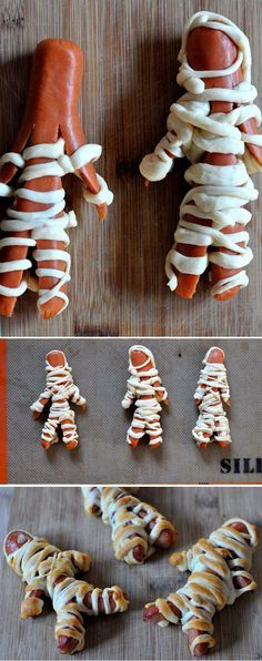 Mummy dogs! Great halloween dinner :)