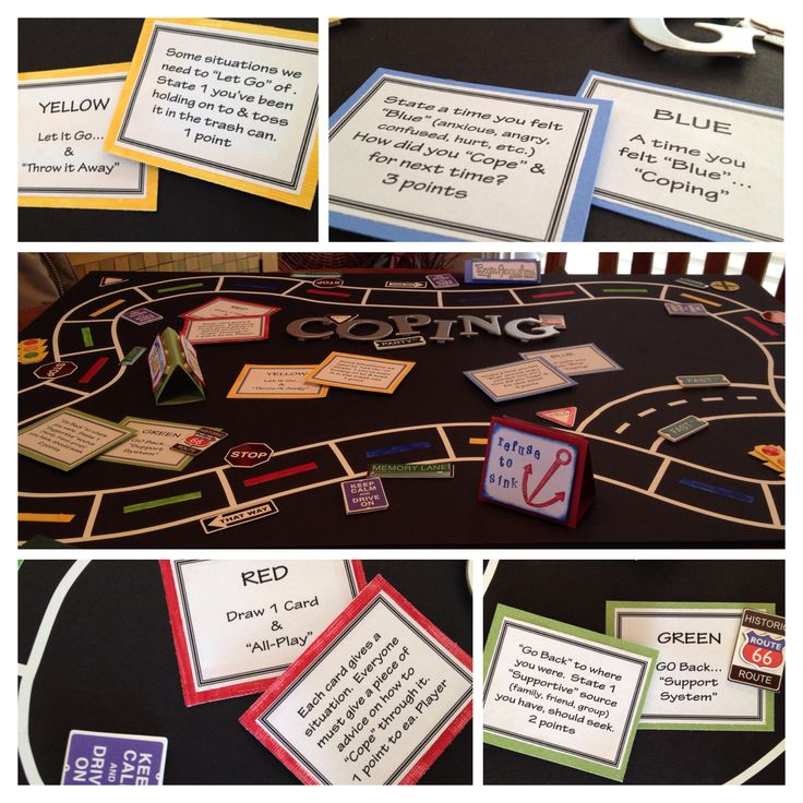 Coping Board Game for Mental Health Clinical... Patients loved it & found it very therapeutic!
