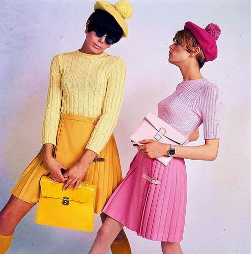 Colourful mod fashions by Pierre Cardin, 1960s~♛