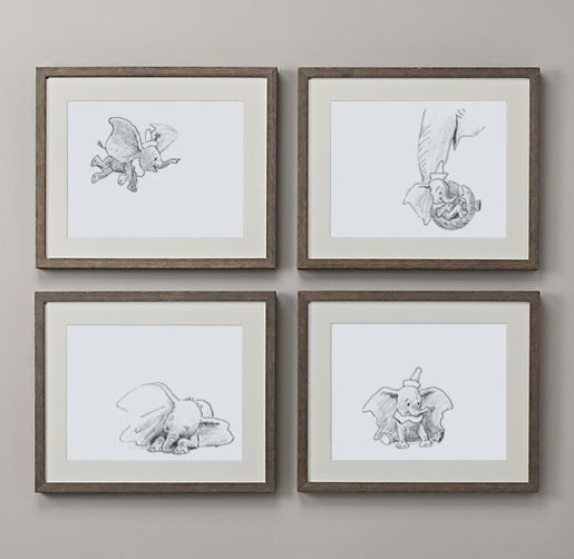 dumbo sketches framed :)
