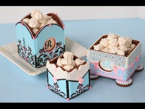 How to Assemble 3-D Cookie Boxes (The Basics) - YouTube