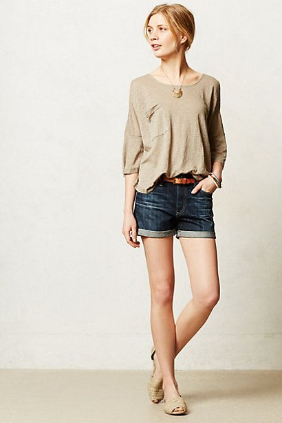 Cold Shoulder Scoop Tee - anthropologie.com