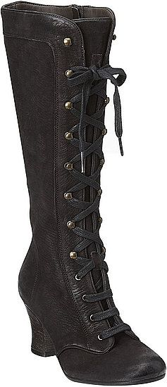 Definitely has a rugged Victorian feel to it that makes it quite versatile. Karen Elson for Nine West Vintage America: Midnightsun Boot, $269
