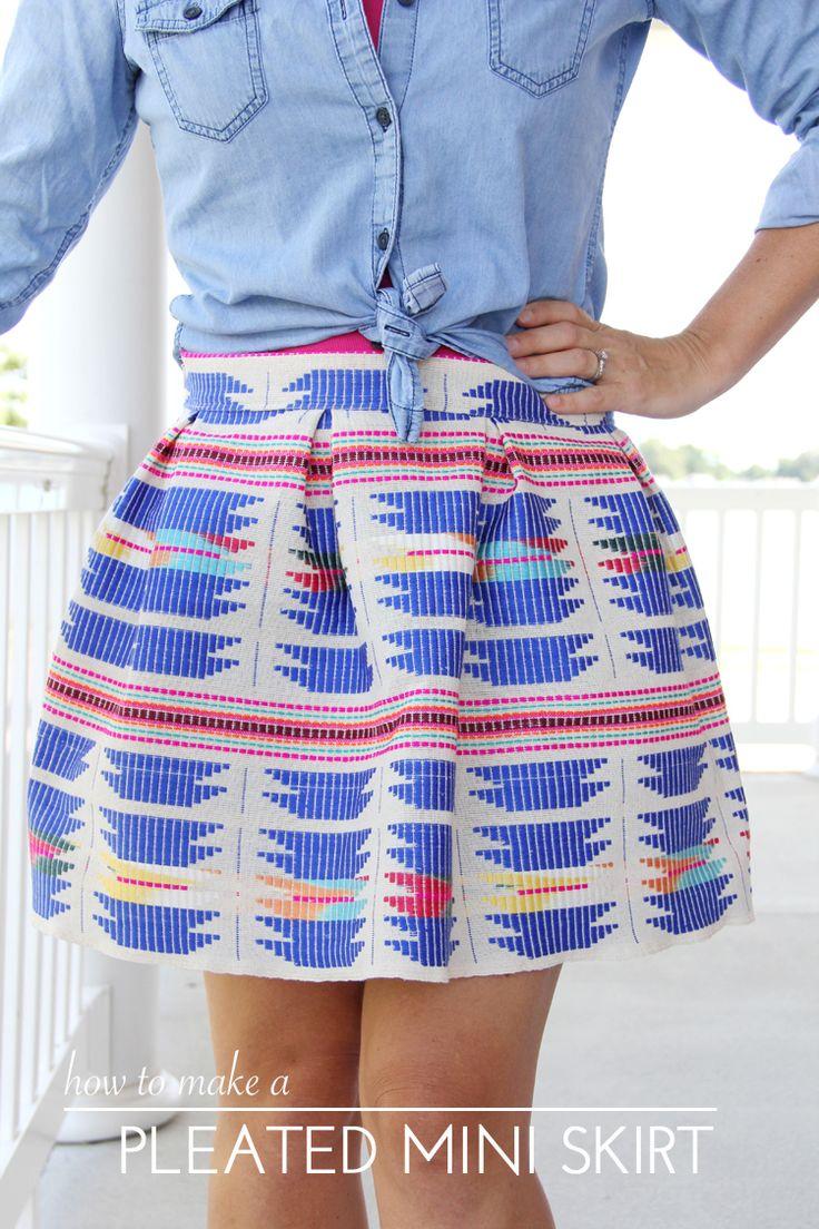 Pleated Mini Skirt DIY
