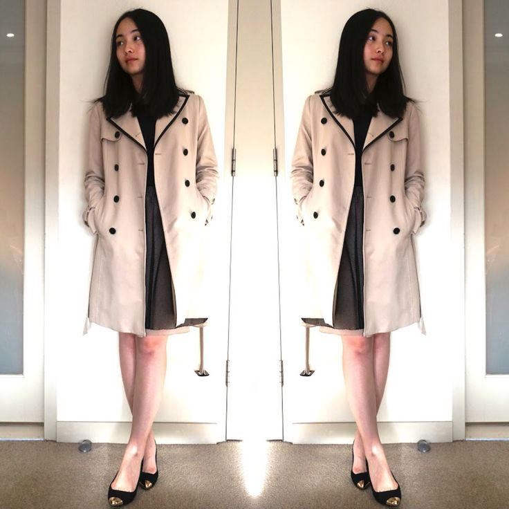 Trench coat is a Must-have in every lady's wardrobe! Perfect for gloomy and rainy days
