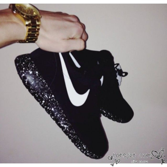 Nike Roshe Run Nere Brillantinate