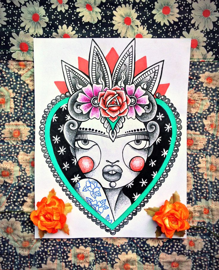 Frida Kahlo Sacred Heart by @alinet.oficial #fridakahlo #sacredheart #mexican #tattoo