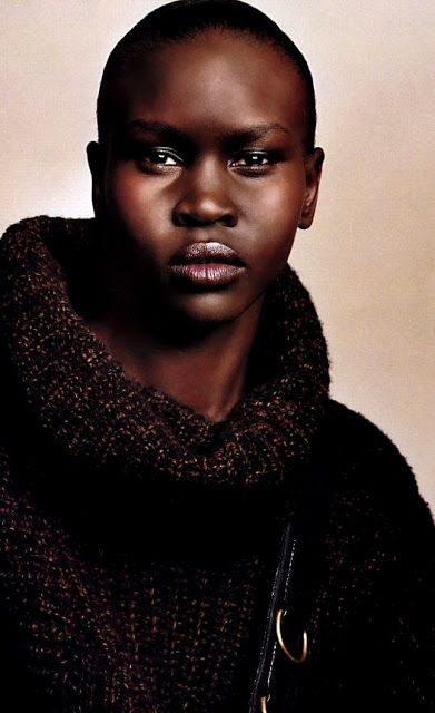 Alek Wek, Sudanese DINKA Tribe International Super Model.: