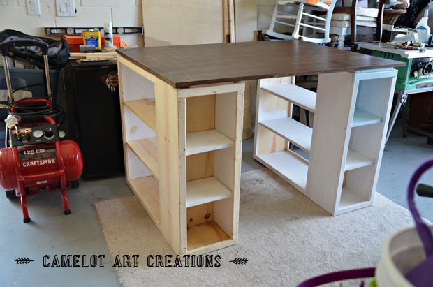 Camelot Art Creations: DIY Craft Table - Part 1 {Ana White Plans}