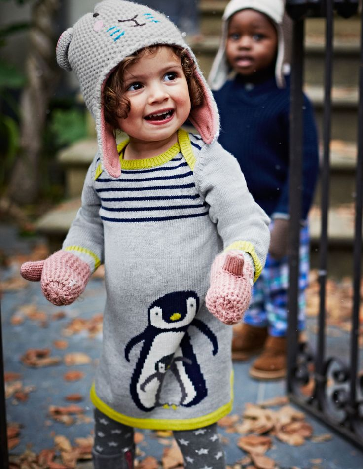 Knitting Lady Penguins : Adorable penguin baby knitted dress for the wee ones