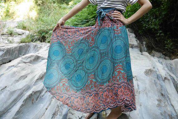 Groene kleding Tribal rok Hippie rok roze kleding Flower rok