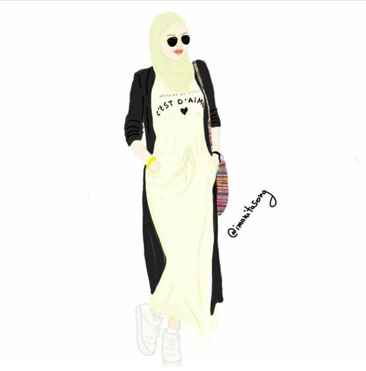 Pin by 🎀 Amira 🎀 on Muslimah Queens | Hijab cartoon ...