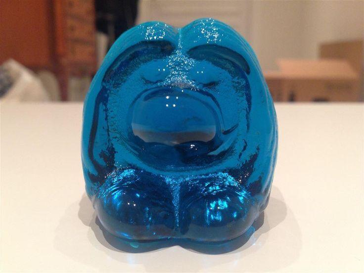 Glasstroll i blått glas på Tradera.com - Glasdjur | Glas |