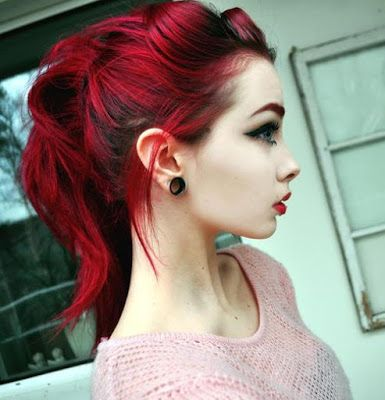 ..............Sweet Girl..............: Cabelos vermelho cereja