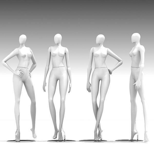 mannequin dummy woman 3d model - 3D Mannequin 401 by Giimann