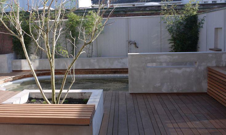 25 beste idee n over beton tuin op pinterest blad stapstenen betonnen stapstenen en betonnen - Moderne buitentuin ...