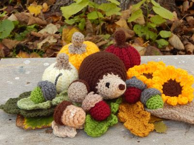 In & around my house : Autumn crochet !!!!!