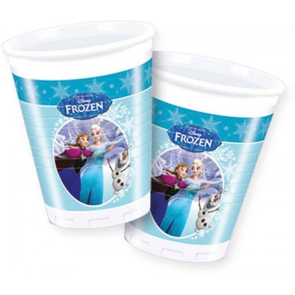 Frozen Ice Skating Plastic Cups