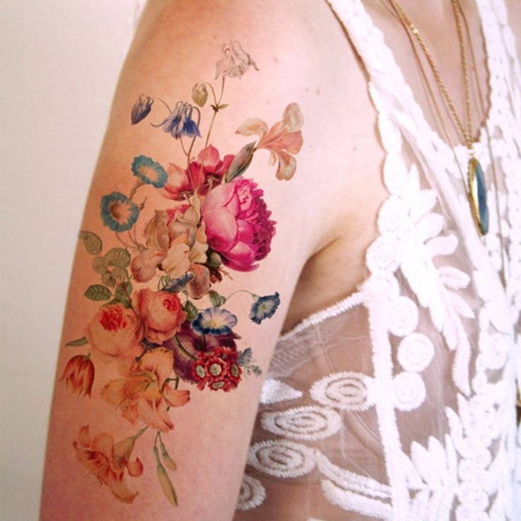 Large Vintage Floral Temporary Tattoo II | Sale | Ohh Deer