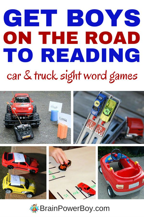 7 awesome car and truck sight word games to help boys learn to read. Try drag racing, monster truck mash, car sight word knockdown and more. We love #7.