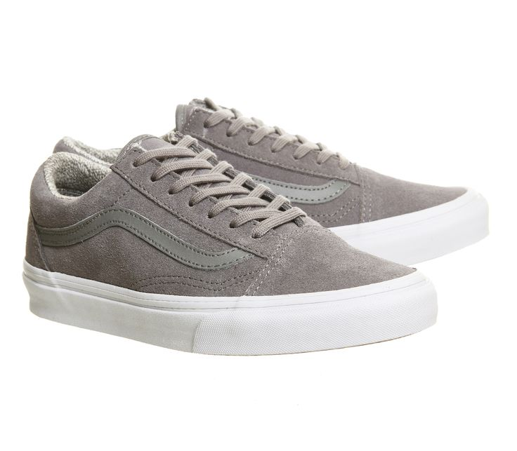 vans old skool grey suede wedge